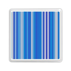 Color Stripes Blue White Pattern Memory Card Reader (square)