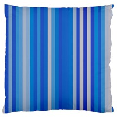 Color Stripes Blue White Pattern Large Cushion Case (two Sides)