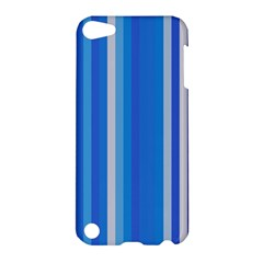 Color Stripes Blue White Pattern Apple Ipod Touch 5 Hardshell Case by Simbadda