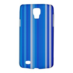 Color Stripes Blue White Pattern Galaxy S4 Active by Simbadda