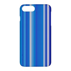 Color Stripes Blue White Pattern Apple Iphone 7 Plus Hardshell Case by Simbadda
