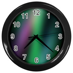 Course Gradient Color Pattern Wall Clocks (black) by Simbadda