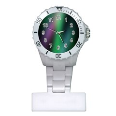 Course Gradient Color Pattern Plastic Nurses Watch