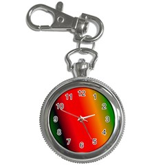 Multi Color Pattern Background Key Chain Watches by Simbadda