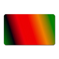 Multi Color Pattern Background Magnet (rectangular) by Simbadda
