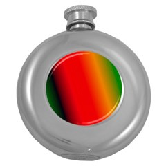 Multi Color Pattern Background Round Hip Flask (5 Oz) by Simbadda
