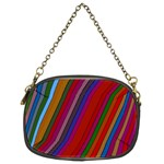Color Stripes Pattern Chain Purses (Two Sides)  Front