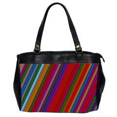 Color Stripes Pattern Office Handbags (2 Sides)