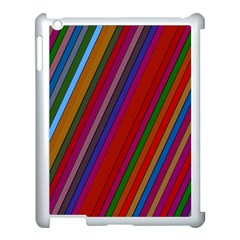 Color Stripes Pattern Apple Ipad 3/4 Case (white)
