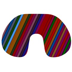 Color Stripes Pattern Travel Neck Pillows