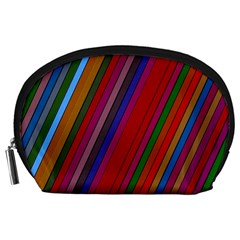 Color Stripes Pattern Accessory Pouches (large)