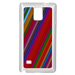 Color Stripes Pattern Samsung Galaxy Note 4 Case (white)