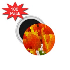 Mosaic Glass Colorful Color 1 75  Magnets (100 Pack)  by Simbadda