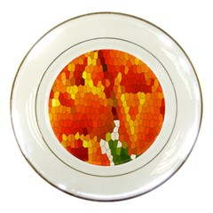 Mosaic Glass Colorful Color Porcelain Plates by Simbadda