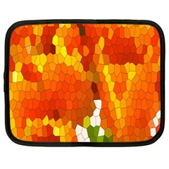 Mosaic Glass Colorful Color Netbook Case (large) by Simbadda