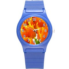 Mosaic Glass Colorful Color Round Plastic Sport Watch (s) by Simbadda