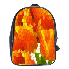 Mosaic Glass Colorful Color School Bags (xl)
