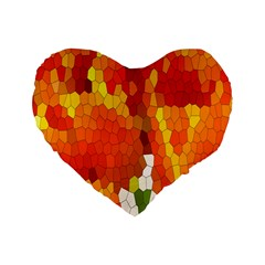 Mosaic Glass Colorful Color Standard 16  Premium Heart Shape Cushions