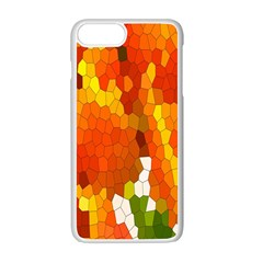 Mosaic Glass Colorful Color Apple Iphone 7 Plus White Seamless Case by Simbadda