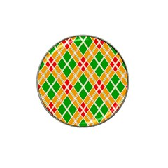 Colorful Color Pattern Diamonds Hat Clip Ball Marker (4 Pack) by Simbadda