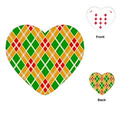 Colorful Color Pattern Diamonds Playing Cards (heart)  by Simbadda
