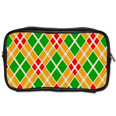 Colorful Color Pattern Diamonds Toiletries Bags 2 Side by Simbadda