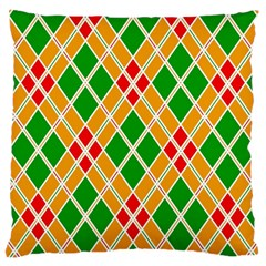 Colorful Color Pattern Diamonds Large Cushion Case (two Sides) by Simbadda
