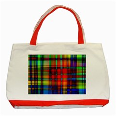 Abstract Color Background Form Classic Tote Bag (red) by Simbadda