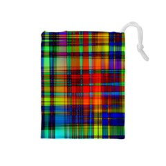 Abstract Color Background Form Drawstring Pouches (medium)