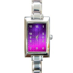 Pattern Light Color Structure Rectangle Italian Charm Watch by Simbadda