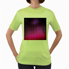 Pattern Light Color Structure Women s Green T Shirt
