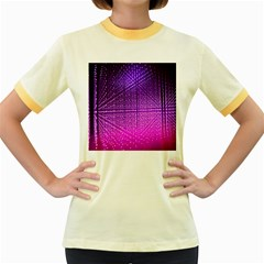 Pattern Light Color Structure Women s Fitted Ringer T-shirts by Simbadda