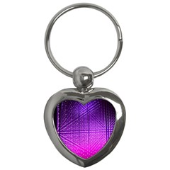 Pattern Light Color Structure Key Chains (heart)  by Simbadda