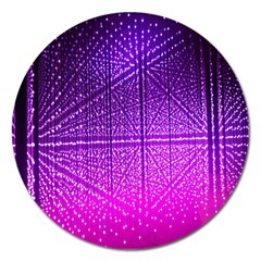 Pattern Light Color Structure Magnet 5  (round) by Simbadda