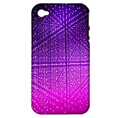 Pattern Light Color Structure Apple Iphone 4/4s Hardshell Case (pc+silicone) by Simbadda