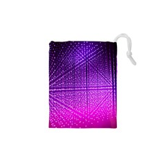 Pattern Light Color Structure Drawstring Pouches (xs)  by Simbadda