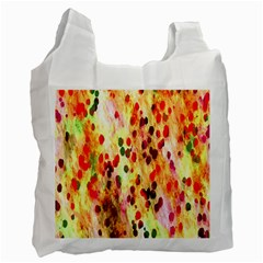 Background Color Pattern Abstract Recycle Bag (one Side) by Simbadda