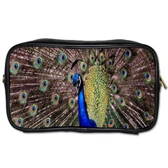 Multi Colored Peacock Toiletries Bags 2 Side by Simbadda
