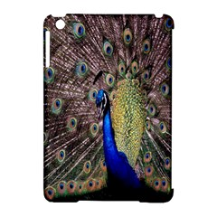 Multi Colored Peacock Apple Ipad Mini Hardshell Case (compatible With Smart Cover) by Simbadda