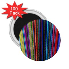 Multi Colored Lines 2 25  Magnets (100 Pack)