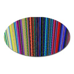 Multi Colored Lines Oval Magnet