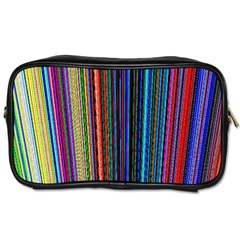 Multi Colored Lines Toiletries Bags 2 Side by Simbadda