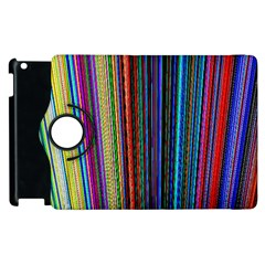 Multi Colored Lines Apple Ipad 3/4 Flip 360 Case
