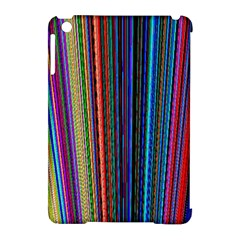 Multi Colored Lines Apple Ipad Mini Hardshell Case (compatible With Smart Cover)
