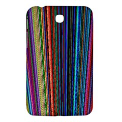 Multi Colored Lines Samsung Galaxy Tab 3 (7 ) P3200 Hardshell Case  by Simbadda