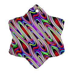 Multi Color Wave Abstract Pattern Ornament (snowflake)