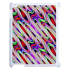 Multi Color Wave Abstract Pattern Apple Ipad 2 Case (white) by Simbadda