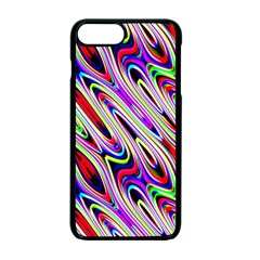 Multi Color Wave Abstract Pattern Apple Iphone 7 Plus Seamless Case (black)