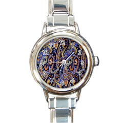 Pattern Color Design Texture Round Italian Charm Watch by Simbadda