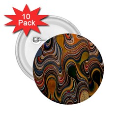 Swirl Colour Design Color Texture 2 25  Buttons (10 Pack)  by Simbadda